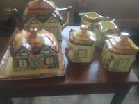 Keele st pottery cottage tea set