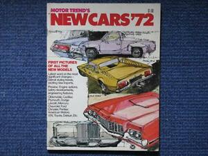 1972 New Cars Of 1972.