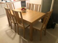BJURSTA/BÖRJE Extendable dining table and 6 chairs