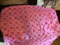 Ikea girls bedding set, fitted sheet and matching storage boxes