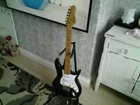Vintage lindo electric guitar + stand untested loft find