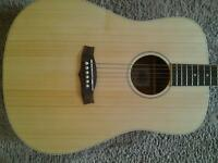 TANGLEWOOD TND NASHVILLE IV ELECTRO ACOUSTIC GUITAR, UNPLAYED NEW CONDITION, WITH CAPO.