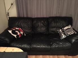 Black lather sofa+2 armchairs need gone ASAP