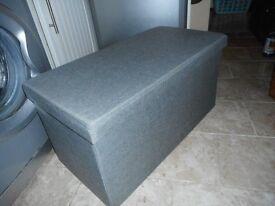 grey storage seat