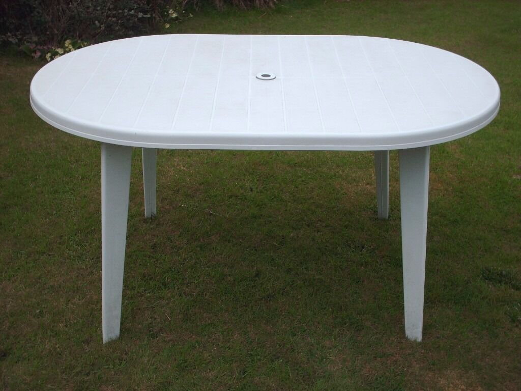 White plastic garden furniture for Plastic garden furniture