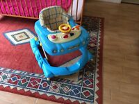 Baby walker car style with lights and sounds