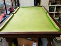 Snooker table 7ft slate bed