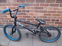 BMX Kink Curb Bike - black/cyan colourway
