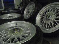 "17"" BBS staggerd ALLOYS wheels bora seat leon fr audi vw tt bmw 1 3 series e30 e36 t5 5x100 5x120"