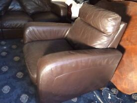 Leather sofa's (1 armchair and 2 settees)