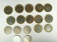 Very rare coins highly collectible £2 and 50 pence coins