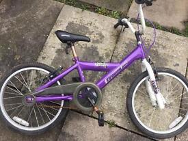 "Girls mountain bike 11"" used needs tlc"