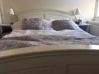 King size double bed - DREAMS - white wood - great quality