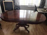 Vintage Dining Table. 6 Seater Solid Wood