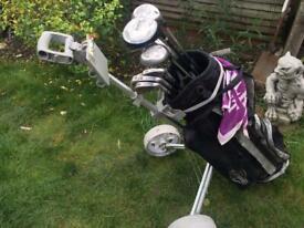 Golf Set Beginners +Powakaddy cart