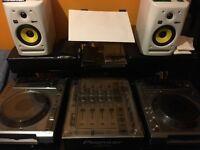 PIONEER DJM-700 CDJ-850 x 2 KRK ROKIT5 (special edition white) CDJ x2 DJM DECKSAVER POLYCARBONATE