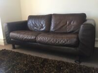 FREE-Habitat leather sofa and armchair