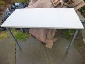 Metal Framed Table Very Strong Ideal For Carboot Market Garage Shed