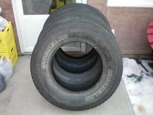 3 Michelin LTX A/T2 Tires * LT275 70R18 125/122R * $110.00 for 3 .  M+S / All Season  Tires  ( used )