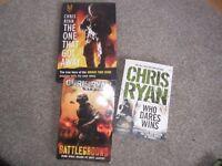 3 x Chris Ryan books