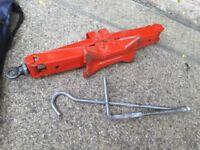 Scissor jack for car