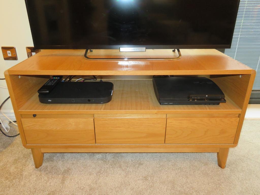 Oak Tv 3 Drawer Unit Hygena Range From Homebase In Denmead Hampshire Gumtree