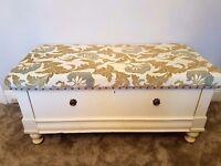 Large antique bedding box/seat