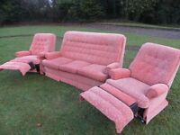 Parker Knoll 2 Recliners + 3 Seater Sofa