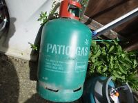 Part Full 13kg Patio gas bottle (Propane) Save £££'s BBQ, Caravan, Camping, Motor home etc..