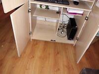 Computer Cupboard Desk Storage
