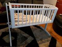 Mothercare white wooden cot