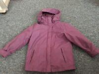 Girls purple mountain warehouse coat