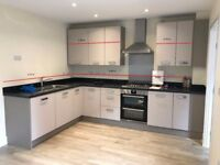 New complete Moores' kitchen (cabinets, oven, hob, extractor, splash back, sink, tap)