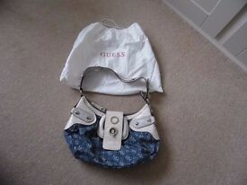 Genuine Guess handbag, with dust cover, hardly used