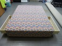 Double Divan Bed Base with 2 Storage Drawers - Used