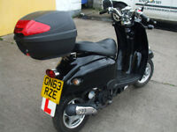 2013 63 reg boatian 50 cc 4 stroke scooter elec and kick start new mot