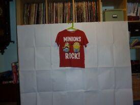 """Kids Tshirts x 4 – """"Minions"""" (6-8 yrs)"""