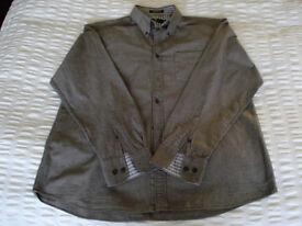 Mens shirt, casual, grey, Blue Harbour, size L.