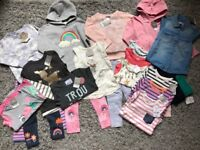 Huge Next Girls Mickey Mouse Rainbow Bunny Bundle 2-3 years, new with tags, includes 24 items.