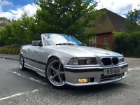 *** RARE *** BMW E36 323 M SPORT CONVERTIBLE, MANUAL, 12 MONTH MOT, FULLY LOADED, REAL HEADTURNER
