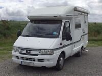 Auto Sleepers Nuevo 2 berth coachbuilt motorhome large double bed, separate washroom and end kitchen