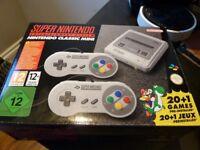 Super Nintendo SNES Mini - brand new video games console with 21 games