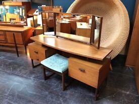 Quadrille Dressing Table/Desk by G Plan. Retro Vintage Mid Century