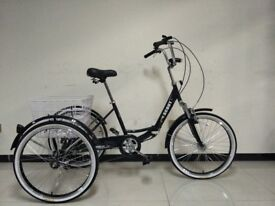 """Adults tricycle, folding suspension frame, 24"""" wheels, 6-speed shimano gears, SCOUT , adult trikes"""