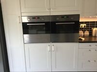 2ovens plus hob from ikea both fan assisted,hob gas very clean condition will sell separate.