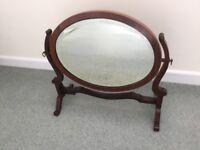 Mahogany dressing table mirror
