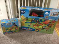 Vtech toot toot train set and extra track