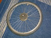 cycle back wheel with tire and 6 gears