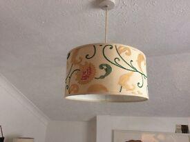Cream floral light shade