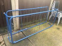 2 x Single Steel Framed & Sprung Guest / Camp Beds Trundle Read Description